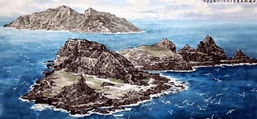 近日,畫家苗再新力作《中國釣魚島》在中國美術館展出