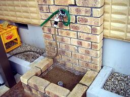 新しく作った洗車用の水栓