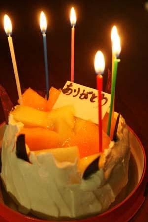 メロンのケーキ