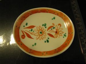 取り皿 赤絵 花