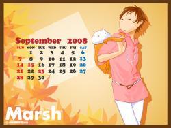 9月カレンダー付壁紙更新!