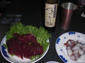 16BYと鯨肉