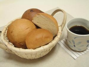 温泉パンとコーヒー