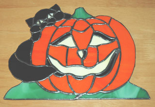 ステンドグラスのかぼちゃ