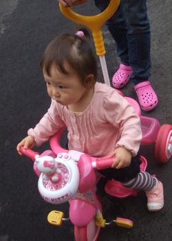 三輪車、楽しすぎる...