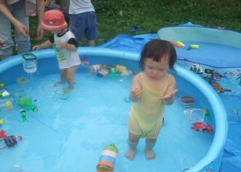 水遊び大好き