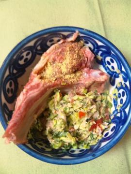 5・21鮭キャベツ・蕪葉・トマトオリー油ふりかけ