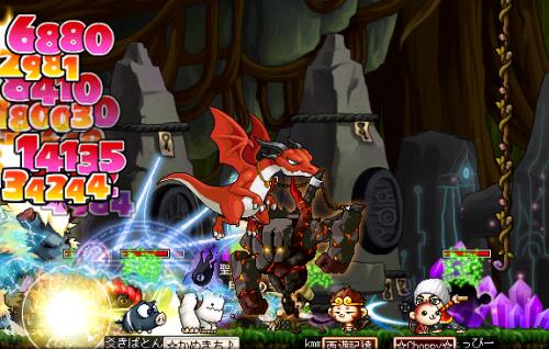 魔獣と戦闘♪