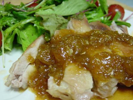 鶏肉のソテー・梅ジャムソース