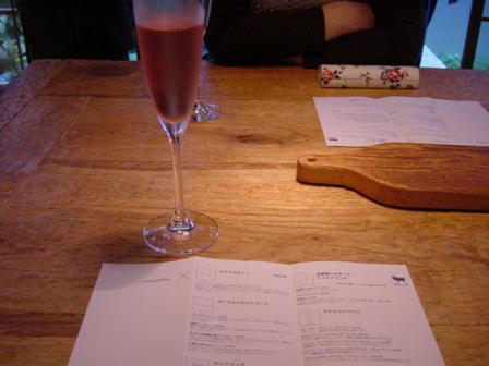 ロゼのスパークリングワイン