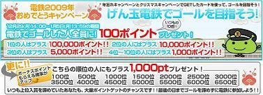 2009年げん玉電鉄おめでとうキャンペーン