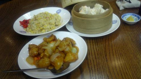 酢豚・炒飯・シュウマイ
