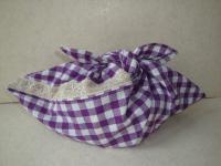 紫のあずま袋