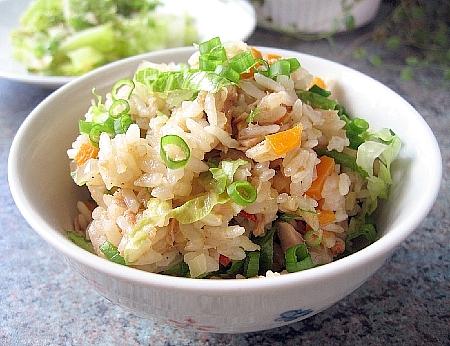 ツナとレタスの中華風ご飯