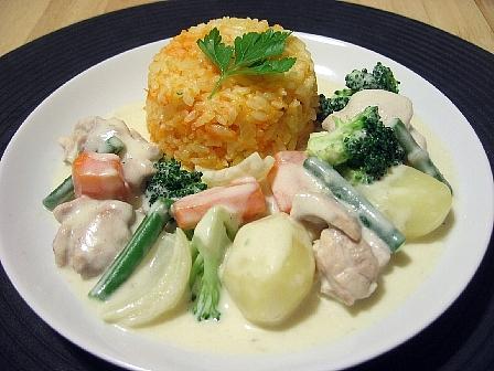 鶏と野菜のクリーム煮