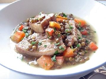 塩豚とレンズ豆の煮込み2