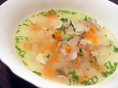 ネックハムと大根のスープ