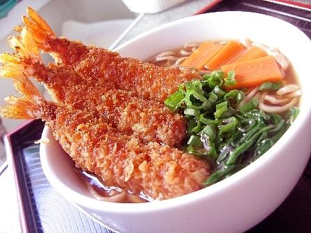 エビフライ蕎麦