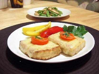 豆腐マリネのチーズ焼き