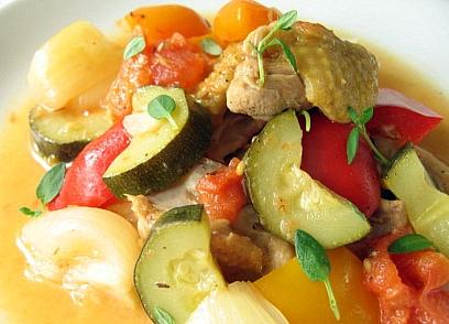 鶏と夏野菜の煮込みレモン風味2