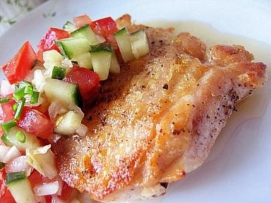 鶏のソテー和風サルサかけ2
