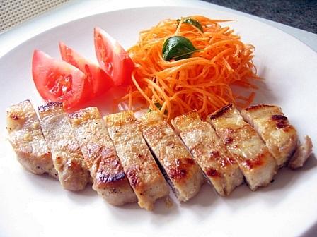 豚ロースのニンニク味噌漬け焼き
