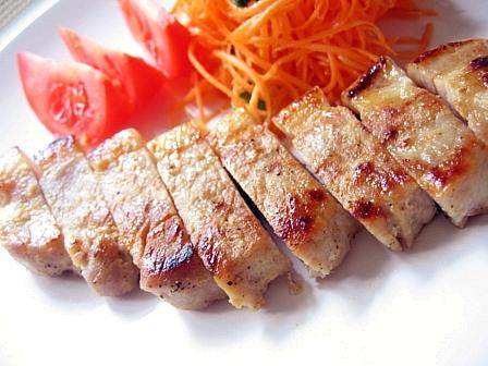 豚ロースのニンニク味噌漬け焼き2