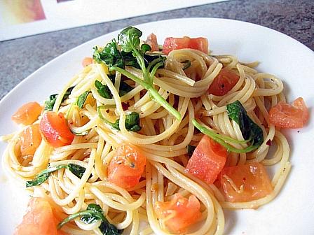 トマトとじゃこのスパゲティ