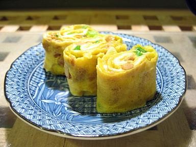 納豆入り卵焼き
