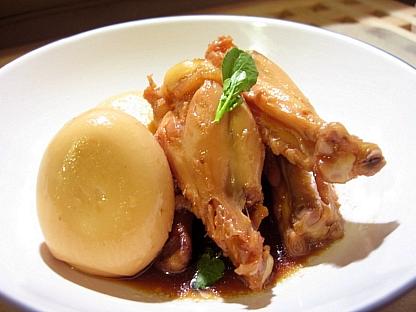 鶏手羽と卵の甘辛煮