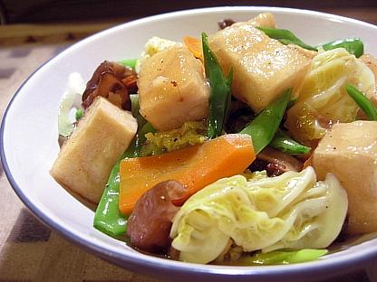 高野豆腐の八宝菜