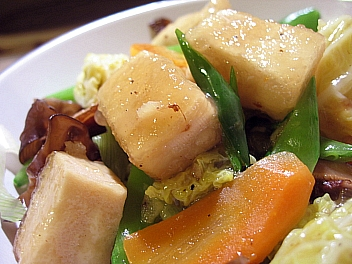 高野豆腐の八宝菜2