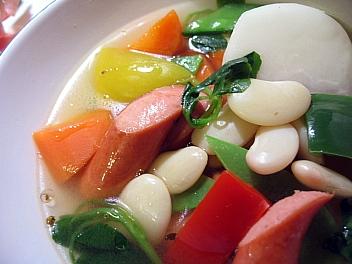 白花いんげん豆と野菜のスープ煮2