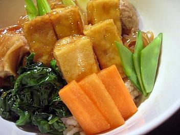 高野豆腐のすき焼き丼2