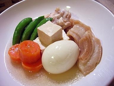 豆腐と卵の煮物
