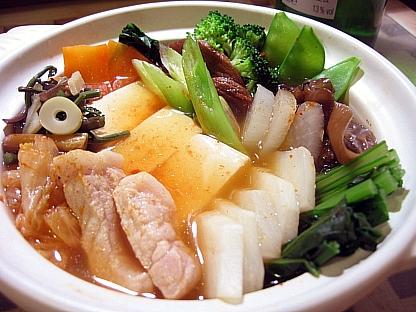 豆腐とカブのチゲ