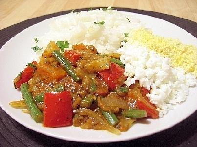 野菜と卵のカレー