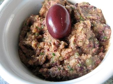 レンズ豆とブラックオリーブのディップ