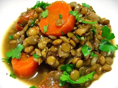 レンズ豆の煮込みクミン風味