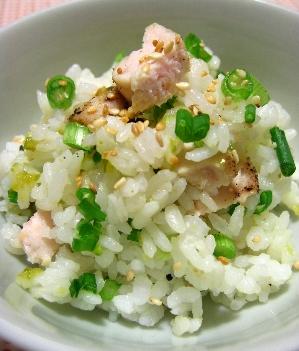 ささみの塩焼き混ぜご飯柚子胡椒風味