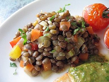 ピュイレンズ豆と野菜のスープ煮