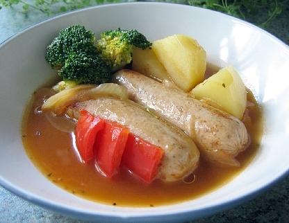 クオーンソーセージと野菜の煮込み