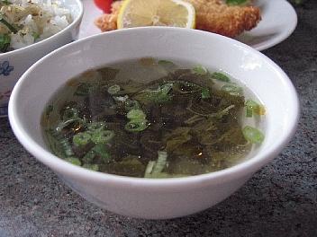 高菜入り鶏スープ