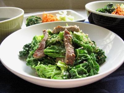 牛肉とちりめんキャベツの塩ダレ炒め