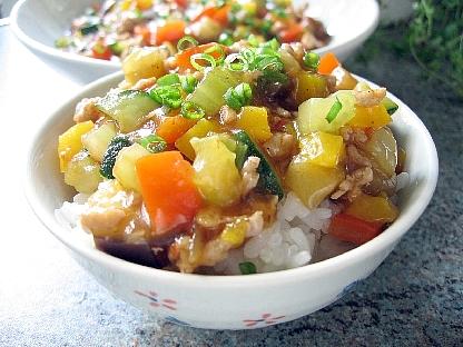 麻婆野菜ご飯
