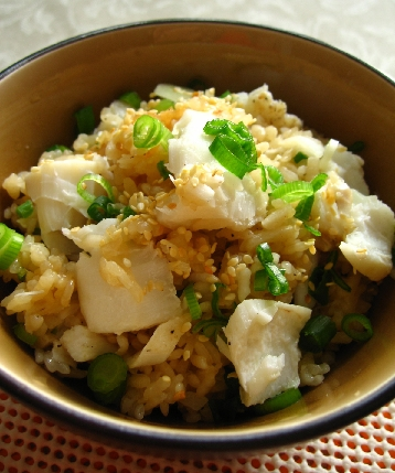 韓国風たらの炊き込みご飯