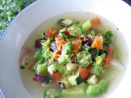 夏野菜のスープ煮レモン風味