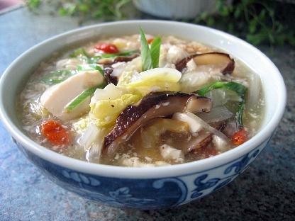 豆腐の中華野菜あんかけご飯
