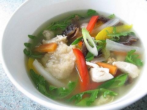 中華風鶏野菜すいとん