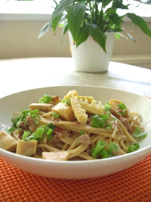 筍とツナの和風スパゲティ